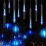 MYJP LEDイルミネーションライト LEDツララスティックライト ストリングライト PSE認証済み 流星 30CM/本 10本セット 防水 お庭やクリスマス飾りなど用(ブルー)