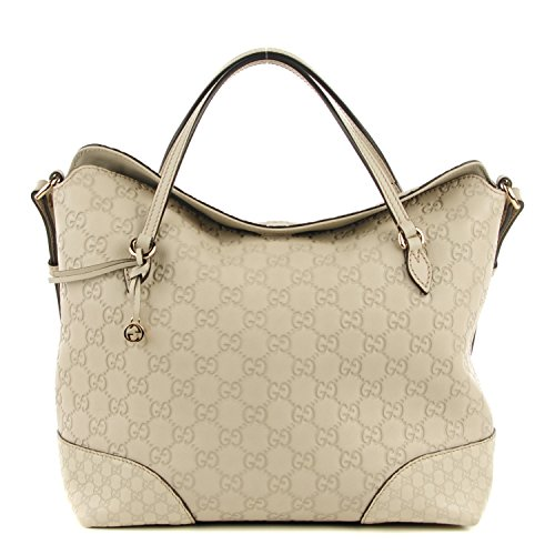 3b50dbdd8828a5 Gucci Bree Large Double-Handle Leather Tote Mystic White Bag - SHOP HANDBAG  BOUTIQUE