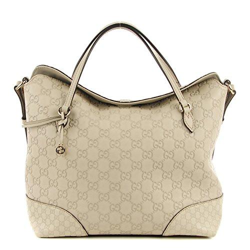 Gucci Bree Large Double-Handle Leather Tote Mystic White Bag - SHOP HANDBAG  BOUTIQUE 5b0e6d214a9e3