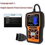 HITSAN FOXWELL NT301 OBD 2 Automotive Scanner Car Engine Analyzer Error Code Reader Scanner OBD2 EOBD OBDII Auto Diagnostic Tool Scaner Color Language1 (Tamaño: Standard)