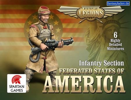 Dystopian Legions: Federated States of America - Infantry Section