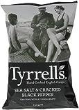 Tyrrells Sea Salt and Black Pepper Crisps 150 g (Pack of 12)