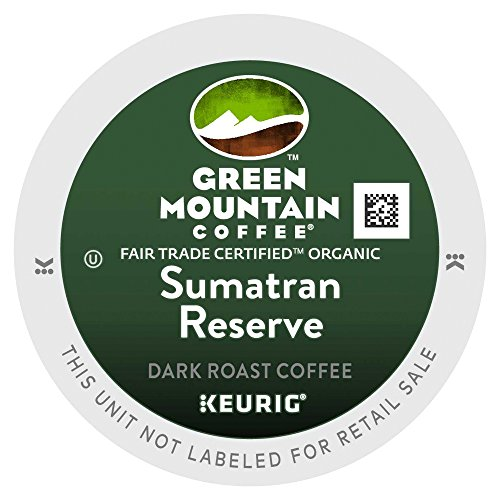Green Mountain Fair Trade Organic Sumatran Reserve Extra Bold 4 Boxes of 24 K-Cups (K Cups Coffee Sumatran Reserve compare prices)
