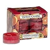Yankee Candle 12-Piece Tea Light Candles, Mandarin Cranberry