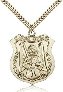 Gold Filled Men's Patron Saint Medal of ST. MICHAEL the ARCHANGEL