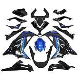 BigOne (ビッグワン) カウル セット Ninja250 JBK-EX250L 13-15 外装セット ニンジャ250 青/黒 ブルー ブラック カウル 外装 フェンダー フロントフェンダー フロントカウル サイドカウル