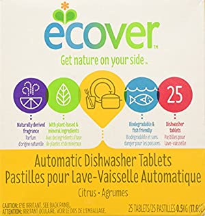 Ecover Natural Plant-based Automatic Dishwasher Tablets, Citrus
