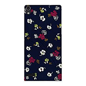 Ajay Enterprises Simple flower design Back Case Cover for Ascend P6
