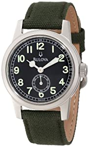 Bulova Men's 96A102 Canvas Strap Watch
