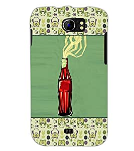PrintDhaba Bottle D-6036 Back Case Cover for MICROMAX A110 CANVAS 2 (Multi-Coloured)
