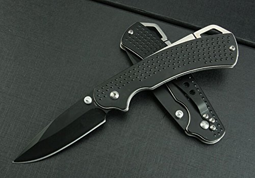 Swtooth Rescue Black Pocket Folding Knife 6685-7.48''