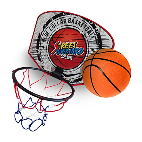 Twitfish® - Mini Basketball Set - Portable Basket Ball Hoop - - 1