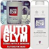 Autoglym Car, Van, Lorry, Caravan & Home Air Freshener Fresh Odour Eliminator + Genuine Mug Cup
