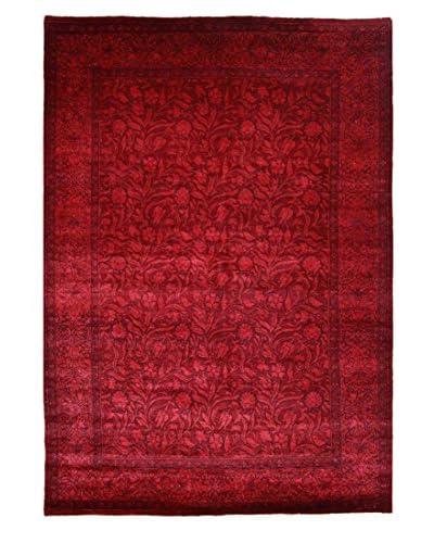 nuLOOM One-of-a-Kind Peshwar Hand-Knotted Area Rug, Burgundy, 6' x 8' 6