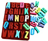 【 立体 ビッグ サイズ 】 文字 の形で固まります 英字 アルファベット , 数字 &記号 シリコン モールド 成形 型 チョコレート 石鹸 粘土 レジン 氷 などの 成型 に (アルファベット)
