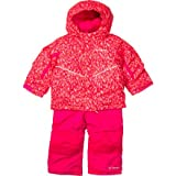 Columbia Kids Buga Bib and Jacket Set, Red Hibiscus Chex Mix, 2T