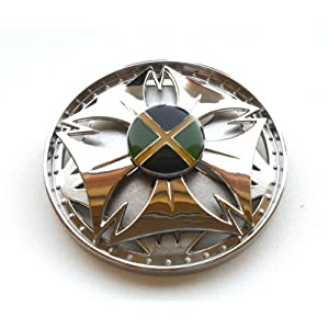 Jamaica Flag Rasta Bob Marley Spinner Belt Buckle