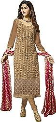 Zohra Vol 2 Women's Georgette Unstitched Dress Material(54002, Light Brown)