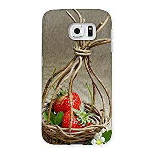 Ajay Enterprises Straberry Basket Multicolor Back Case Cover for Samsung Galaxy S6