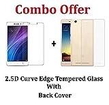#2: Kaira Tempered Glass , Transparent Soft Ultra Slim Back Cover Case For Xiaomi Redmi 4A