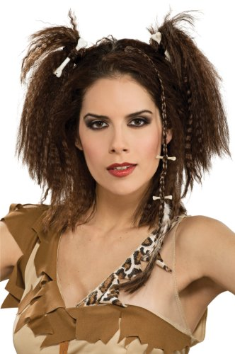 Caveman Woman Stone Age Barbarian Costume Hairpiece