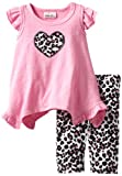 Little Lass Baby-Girls Infant 2 Piece Capri Set with Animal Print