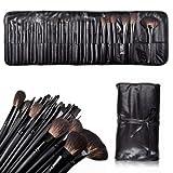NiceEshop(TM) 32 Pcs Elegant Professional Super Beauty Cosmetic Makeup Brush Set Kit With Free Leather Case-Black...