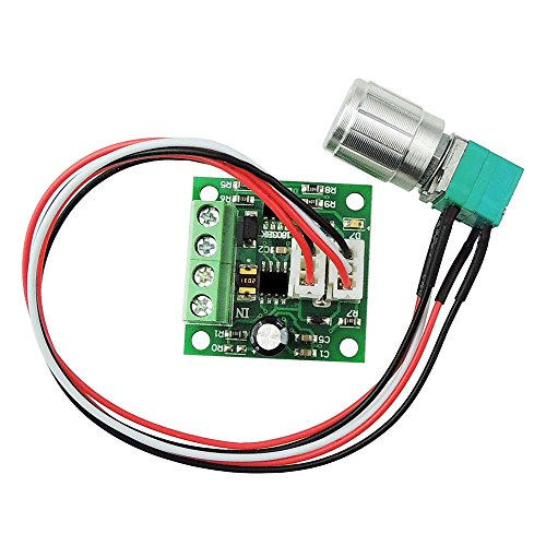 uniquegoods 1803BKW 1.8v 3v 5v 6v 7.2v 12v 2A 30W DC Motor Speed Controller (PWM) Adjustable Driver Switch (Pwm Motor Switch compare prices)