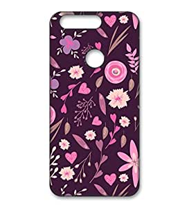 Happoz Huawei Honor 8 Cases Back Cover Mobile Pouches Patterns Floral Flowers Hard Plastic Graphic Armour Fancy Slim Graffiti Imported Cute Colurful Stylish Boys Premium Printed Designer Cartoon Girl 3D Funky Shell Z027