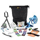Cool Gadgets Geek Gift Bag - Smartphone Tripod, NFC Tags, Waterproof Phone Bag, International Adaptor, USB Fan, USB LED Light
