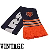 NFL Mitchell & Ness Chicago Bears NFL Throwback Team Scarf -Navy Blue/Orange