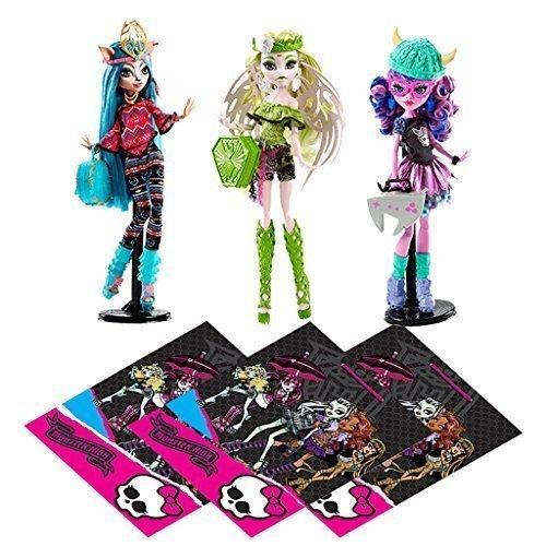 Mattel Monster High Dolls, 3 Brand-Boo Students
