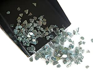 Blue Diamond Slices, Natural Blue Rough Diamond, Raw Uncut Diamond Chips, 2-5mm Approx, 5 Carat Weight