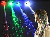 Amazon.co.jpアメリカで大人気 ♪ ハロウィン カラオケ クリスマス パーティー でオシャレに輝く 髪留め式 光ファイバー エクステ 『LED-エクステ : 5色セット』