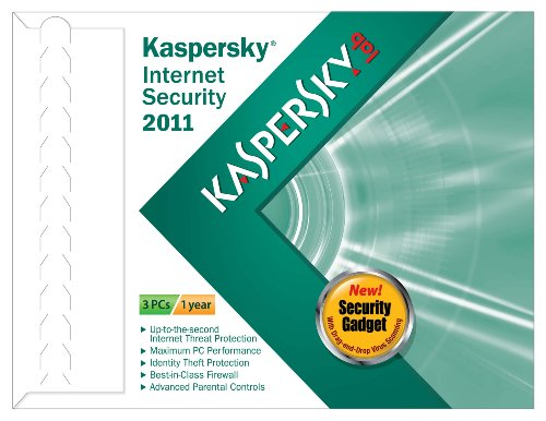 Kaspersky Lab Internet Security 2011 3 user- Frustration Free Packaging