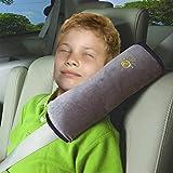 Vine Seguridad infantil cinturon Asiento de coche cinturón hombro cojín reposacabezas almohada para dormir para niños almohada cervical?Gris?