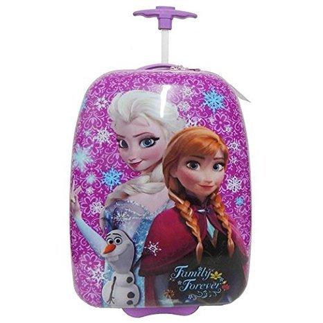 Disney Frozen Elsa & Anna Purple Hard Shell Pilot Case Luggage