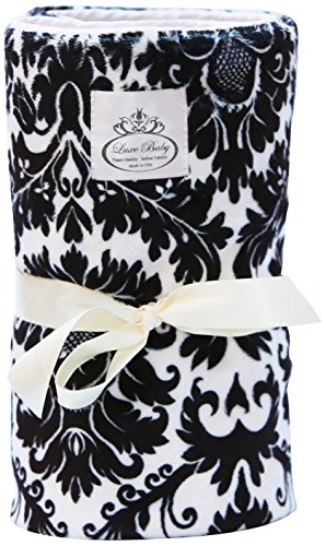 LUXE BABY Stroller Blanket-Print Marraquesh, Black