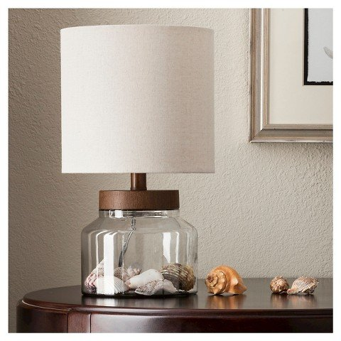 Wood & Glass Fillable Uplight (Includes CFL Bulb) - ThresholdTM (Plastic Fillable Light Bulbs compare prices)