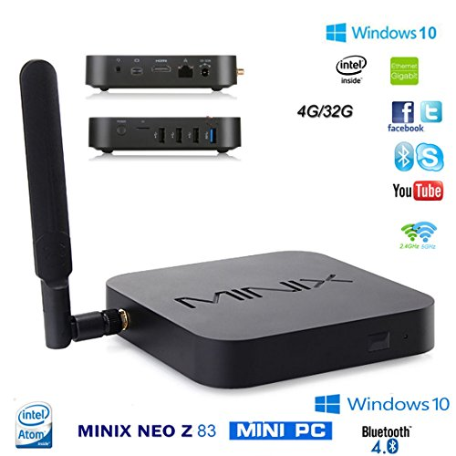 MINIX NEO Z83-4 Series- MINI PC TV Box Windows 10 Licensed 64bit ( intel Cherry Trail Z8300 , 4GB RAM 32GB ROM, 802.11ac WIFI , Gigabit LAN, Bluetooth 4.2 ,MiniDP HDMI)