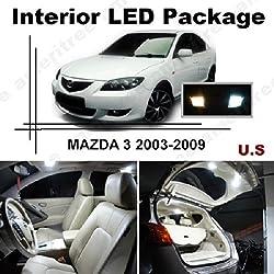 See Ameritree Xenon White LED Lights Interior Package + White LED License Plate Kit for Mazda 3 2003-2009 (6 Pcs) Details