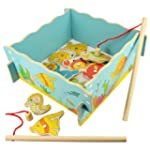 Bigjigs Toys BJ735 Wood Fishing Game