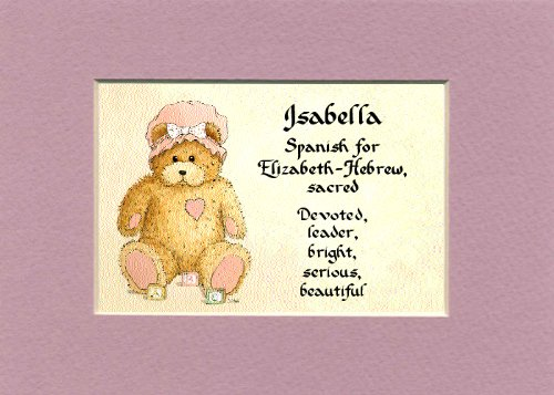 Personalized Baby Name Isabella Nursery Wall Decor Keepsake Gift Made In The Usa