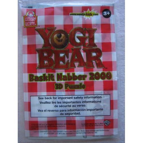 Wendys Yogi Bear Baskit Nabber 2000 3D Puzzle Kids Meal Toy