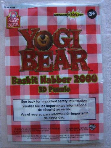 Wendy's Yogi Bear Baskit Nabber 2000 3D Puzzle Kids' Meal Toy