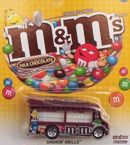 Hot Wheels Pop Culture Chocolate Candies M&M's - Smokin' Grille - 1