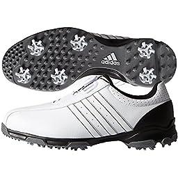 adidas Men\'s 360 Traxion Boa Golf Cleated, Core Black/Core Black/Iron Metallic, 11 M US