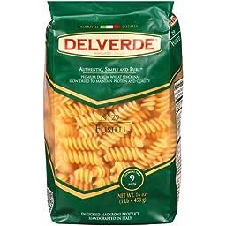 Del Verde Number 29 Fusilli Pasta, 1 Pound -- 12 per case.