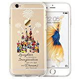 "Cartoon Movie Character Themed Fan Art CLEAR Hybrid TPU Surround with Hard Back Cover Case for iPhone Range - Disney Themed Castle-iPhone 6s Plus (5.5"")"