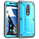 Nexus 6 Case, SUPCASE [Heavy Duty] Belt Clip Holster Case for Google Nexus 6 (2014 Release) [Unicorn Beetle PRO Series] Full-body Rugged Hybrid Protective Cover with Built-in Screen Protector (Blue/Black), Dual Layer Design + Impact Resistant Bumper, Fit Motorola Nexus 6